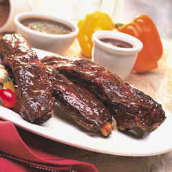 Bison Ribs with Merlot BBQ Sauce